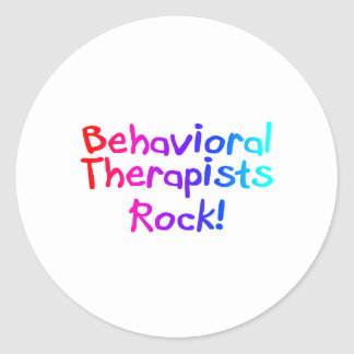 Behavioral Therapists Rock Classic Round Sticker