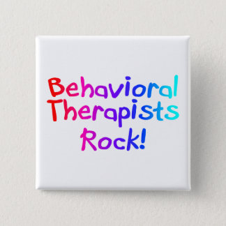 Behavioral Therapists Rock Pinback Button