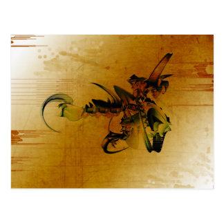 Behemoth Grunge 3d Abstract Art Postcard