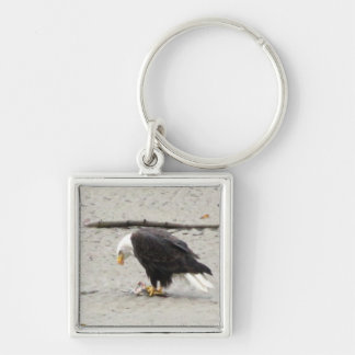 BEHF Bald Eagle Hoarding Fish Keychain