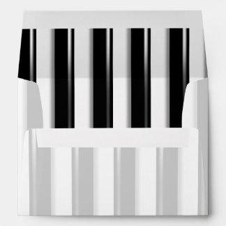 Behind Bars - Black Stripe(Add photo or 2nd Color) Envelope