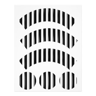 Behind Bars - Black Stripe(Add photo or 2nd Color) Letterhead