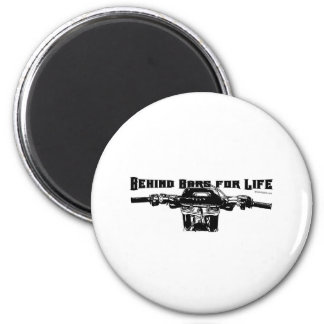 Behind Bars For Life – Motocross 2 Inch Round Magnet