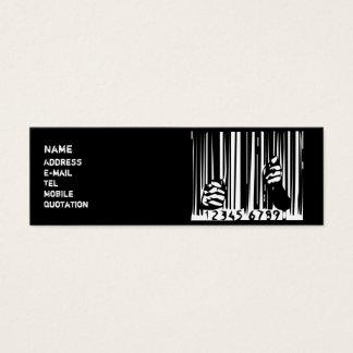 Behind Bars Mini Business Card