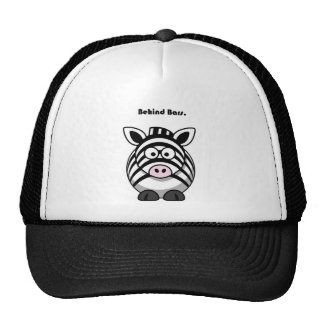 Behind Bars Zebra Cartoon Hat