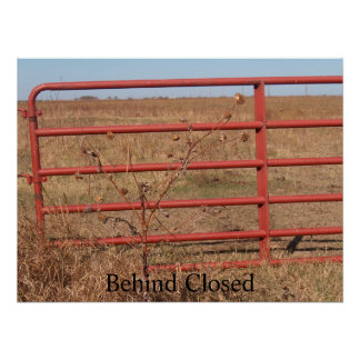 Behind Closed Gates..... Poster