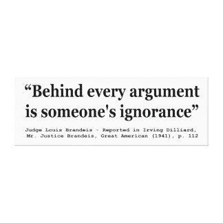 Behind Every Argument is Someone's Ignorance Canvas Print