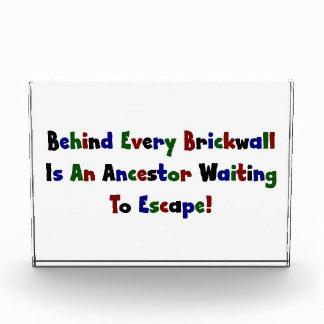 Behind Every Brickwall Is An Ancestor ... Award