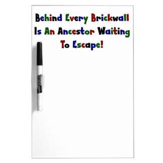 Behind Every Brickwall Is An Ancestor ... Dry Erase Board