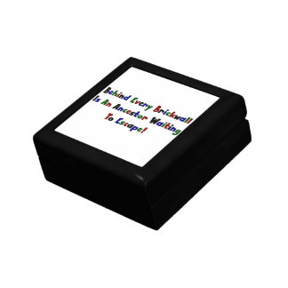 Behind Every Brickwall Is An Ancestor ... Gift Box
