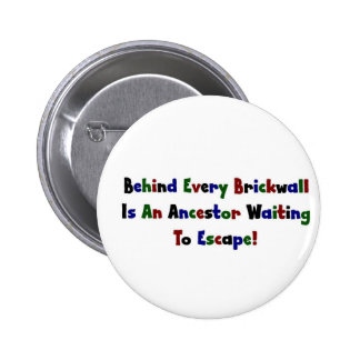 Behind Every  Brickwall Is... 2 Inch Round Button