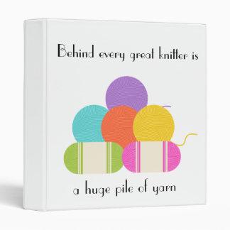 Behind Every Great Knitter- Pattern Organizer Binder