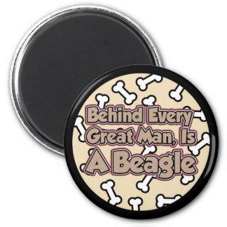 Behind Every Man 2 Inch Round Magnet