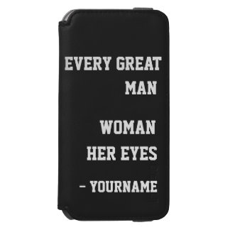 Behind Every Man custom color & name wallet cases