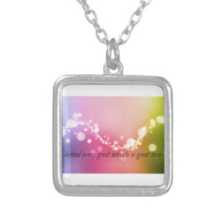 Behind Every Miracle Is Great Love Necklace