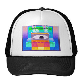 Behind every smile trucker hats