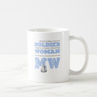 BEHIND EVERY SOLDIER WIFE CLASSIC WHITE COFFEE MUG