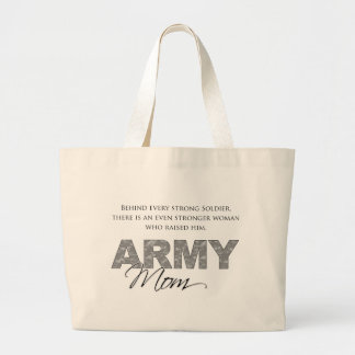 Behind Every Strong Soldier 1 Large Tote Bag