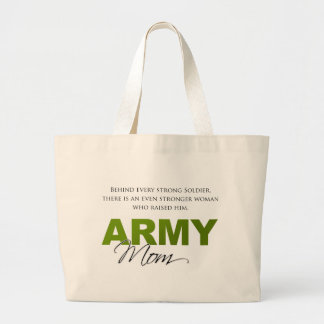 Behind Every Strong Soldier 2 Large Tote Bag