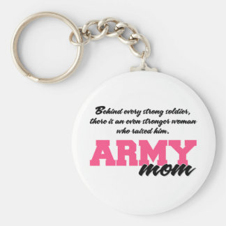 Behind Every Strong Soldier 3 Keychain