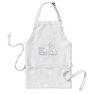 Behind Every Successful Woman is Herself Adult Apron