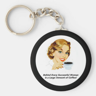 Behind Every Successful Woman Keychain
