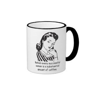 Behind every successful woman... ringer mug