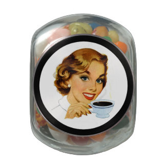 Behind Every Woman is Coffee Jelly Belly Candy Jar