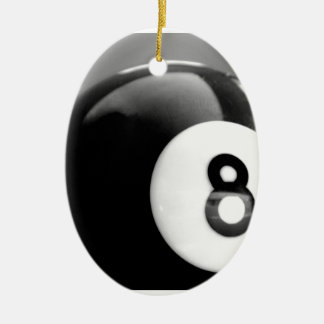 Behind the 8-Ball, Eight Ball Ceramic Ornament