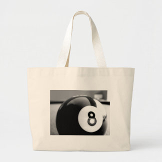 Behind the 8-Ball, Eight Ball Large Tote Bag