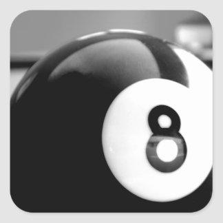 Behind the 8-Ball Eight Ball Square Sticker