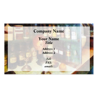 Behind the Counter at the Drugstore Business Card Templates