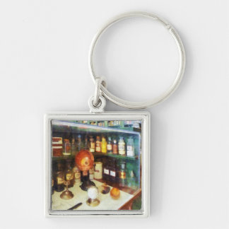 Behind the Counter at the Drugstore Key Chain