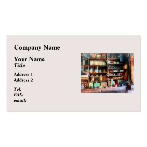 Behind the Counter at the General Store Business Card Templates