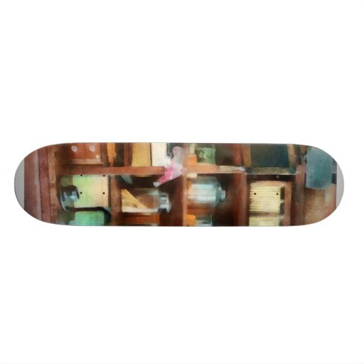 Behind the Counter at the General Store Custom Skate Board