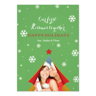 Behind the Curtain Holiday Photo Card