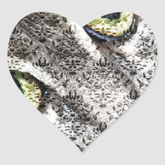 Behind the Damask Heart Sticker