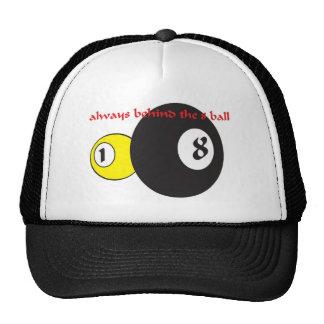 Behind the eight ball ( baseball cap) trucker hat