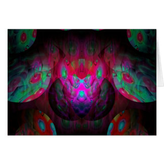 Behind the Eyes Brilliant Color Abstract Card