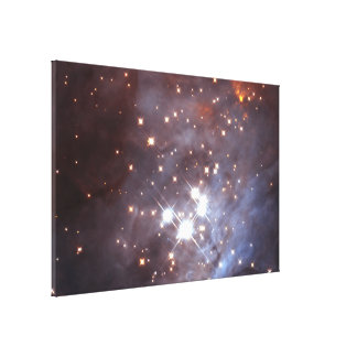 Behind the Gas and Dust of Orion's Trapezium Clust Canvas Print