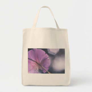 Behind the Lavender Veil Grocery Tote Bag