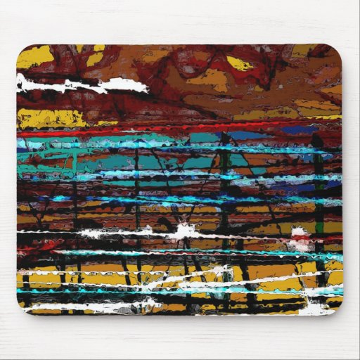 Behind the Lines - Abstract Mouse Pad