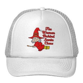 Behind the man trucker hat