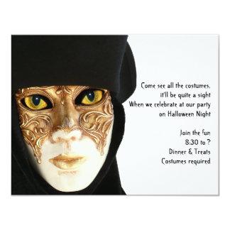 Behind the Mask Halloween Invitation