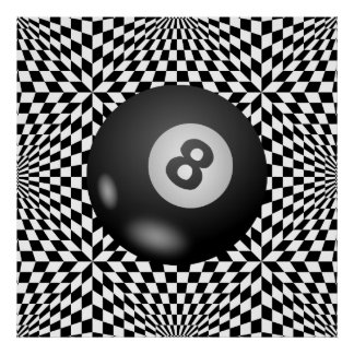 Behind the Mystical Eight Ball Poster