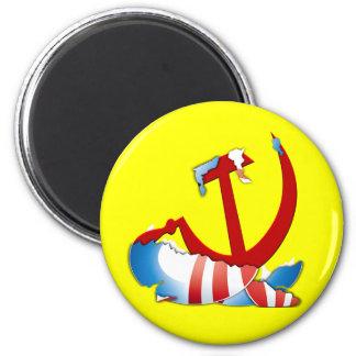 Behind The Obama Logo 2 Inch Round Magnet
