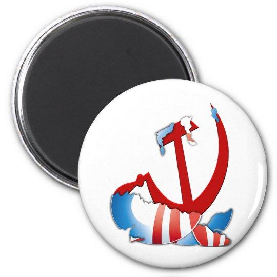 Behind The Obama Logo Magnet