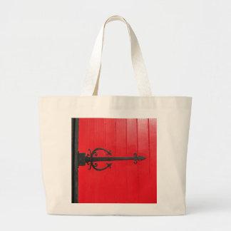 Behind the Red Door Canvas Bags