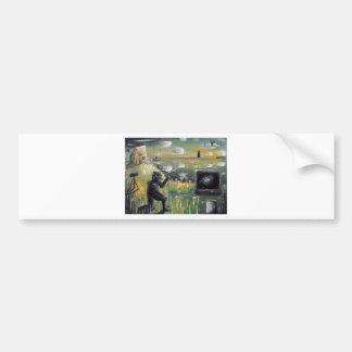 Behind the scenes-Morning broadcast-Custom Print! Bumper Sticker