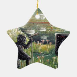 Behind the scenes-Morning broadcast-Custom Print! Ceramic Ornament